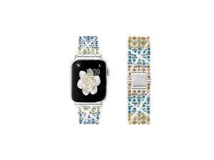 Bing Band Compatible with Apple Watch Band 38mm 40mm 42mm 44mmJewelry Replacement Metal Wristband Strap for iWatch Band Series 54321Colorful A