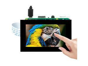 35 Inch DSI Touchscreen LCD Display for Raspberry Pi 4 B 3 Model B+ 2 | Capacitive Finger Touch screen | Plug and Play Monitor Compatible with Raspbain Ubuntu Kali RetroPie Windows 10 IOT core