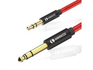 35mm to 635mm TRS Stereo Audio Cable635 14 Male to 35 18 Male Aux Jack for iPod LaptopHome Theater Devices and Amplifiers 5m15ft