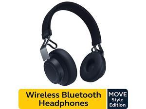Move Style Edition Navy Wireless Bluetooth Headphones with Superior Sounds Quality Long Battery Life UltraLight and Comfortable Wireless Headphones 35 mm Jack Connector Included