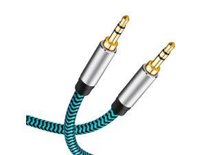 Aux Cable 50 ft, 3.5mm Male to Male Stereo Aux Cord 3.5mm Auxiliary Audio Cable Nylon Braided Male to Male Stereo Audio Cables Compatible Car/Home Stereos,Speaker,iPhone iPod iPad,Headphones
