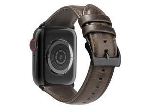 Leather Bands Compatible with Apple Watch Band 44mm 42mm 40mm 38mm Men Women Replacement Genuine Leather Strap for iWatch SE Series 6 5 4 3 2 1 Sport and Edition