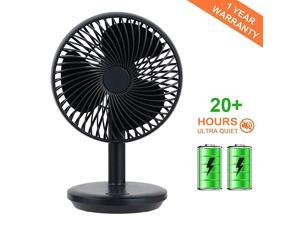 Personal USB Table Fan Portable 4000mAh Rechargeable Battery Powered Fan Air Circulation Noiseless Fan Adjustable 4 Speeds Personal Powerful Fan for Home Office Gym Library Outdoor