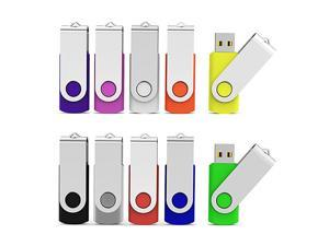 10 Pieces 16 GB USB Flash Drive 16GB USB 20 Thumb Drives Bulk Colorful USB Memory Stick Zip Drive Jump Drives for Data Storage File Sharing Multicolor 16G 10 Pack