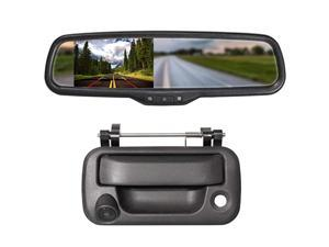 Tailgate Handle Backup Camera with 43quot Rear View Mirror Monitor Kit for Ford F150 20042016Heavy Duty F250F350F450F550 20082016 Waterproof Reverse Reversing Backing Auto Parking Cameras