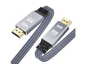 4K HDMI Cable 10ft  HDMI 20 High Speed 18Gbps Cable 4K60Hz Flat Nylon Braided HDMI Cord Support 4K HDR ARC 3D UHD 2160P HD 1080P Ethernet 4K TV Projector Bluray Monitor PCGray