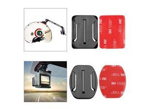 Sticky Helmet Mounts Adhesive for GoPro Cameras Flat Curved Adhesive Mounts Sticker  Helmet 3M Adhesive Pads Sticker Curved Flat Adhesive Mounts Kits for Gopro Hero Sessions and More 24PCS