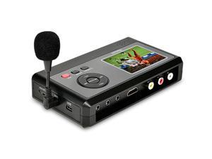Video Capture Box with Microphone VHS to Digital DVD Converter from VCR Tapes Hi8 Camcorder TV Box and Gaming SystemsSave to TF Card Directly