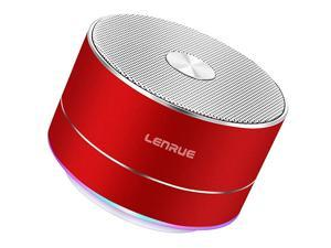 Portable Wireless Bluetooth Speaker with Built-in-Mic,Handsfree Call,AUX Line,TF Card,HD Sound and Bass for iPhone Ipad Android Smartphone and More (Red)