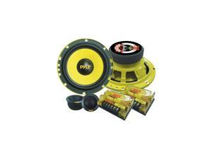 2Way Custom Component Speaker System 65 400 Watt Component with Electroplated Steel Basket Butyl Rubber Surround 40 Oz Magnet Structure Wire Installation Hardware Set Included  PLG6C