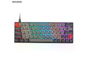 SK64S Hot Swappable Bluetooth 51 WirelessWired Mechanical Keyboard with RGB Backlit PBT KeycapsIP6X Waterproof for WinMacGaming Gateron Optical Brown Grey Black