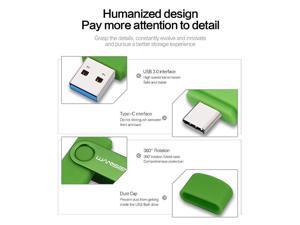 USB C Type C Flash Drive USB 3031 Photo Stick 128GB Green