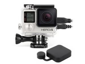 Open Protective Skeleton Housing Case with LCD Touch Backdoor for GoPro Hero 4 GoPro Hero 3 and GoPro Hero 3+ Transparent Clear