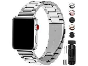 Compatible Apple Watch Band 42mm 44mm 38mm 40mm Stainless Steel Metal for Apple Watch Series 5 4 3 2 1 Bands 42mm 44mm Silver