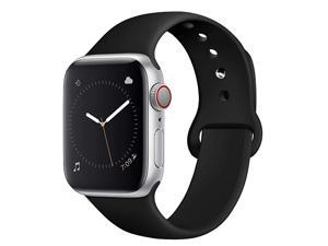Compatible with App le Watch Band 38mm 40mm 42mm 44mm for Women Men iwatch Bands Compatible with iWatch Series 5 Series 4 Series 3 Series 2 Series 1 SM ML Black