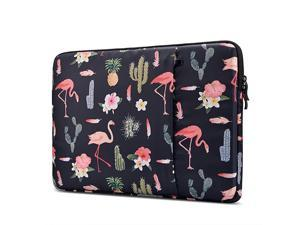 Shockproof 14154 Inch Laptop Sleeve for 154 Inch MacBook Pro Retina 15 Inch New MacBook Pro with Touch Bar 20162019 A1990 A1707 Case with Accessory Pocket Flamingo Black