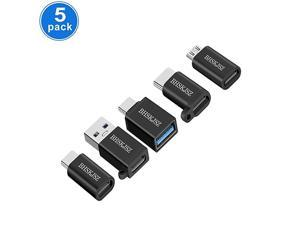 USB Type C AdapterMicro USB to USB C AdapterUSB Type C to USBA USB C to USB 30 Adapter and more5Pack Black USB Type C Adapter