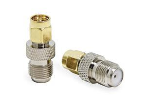 SMA Male to F Female 2Pack  Coax Coaxial Connector Adapter for RTLSDR Antenna Cell Phone Booster