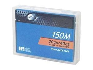 DAT 4mm 20 GB Native / 40 GB Compressed 150m DDS4 Backup Tape Media