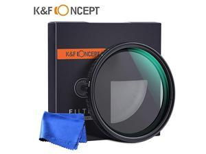 Concept 62mm Fader ND Filter Neutral Density Variable ND2 to ND32 ND2ND32 for Camera Lens NO X Spot Nanotec UltraSlim WeatherSealed