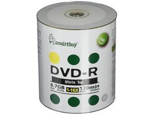 100 Pack DVDR 47gb 16x White Top NonPrintable Blank Data Video Movie Record Disc 100 Disc 100pk