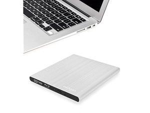 Aluminum External USB Blu-Ray Writer Super Drive for Apple MacBook Air, Pro, iMac