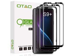 Galaxy S9 Plus Screen Protector Tempered Glass 2 Pack  3D Curved Dot Matrix Full Screen Coverage Glass Screen Protector for Samsung Galaxy S 9 Plus with Installation Tray Case Friendly