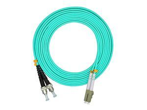 10 Meters 33ft LC to ST Duplex 50125 10G OM3 MultiMode Fiber Optic Cable Jumper Optical Patch Cord LCST