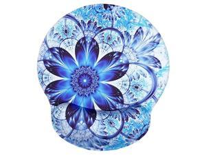 Ergonomic Wrist Mouse PadsMemory Foam Mouse Pad with Wrist Support  NonSlip Rubber Round Mousepads and Pain Relief Mouse Mat Great for GamingWorking MF Blue Mandala
