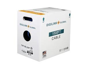 CAT6E Riser CMR 1000ft UTP 24AWG Solid Bare Copper 600MHz ETL Verified Bulk Ethernet Cable in Blue by