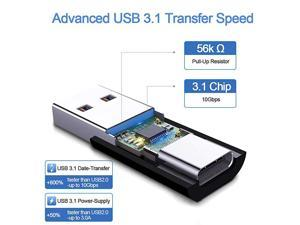 Updated USB 31 GEN 2 Male to TypeC Female Adapter Support Double Sided 10Gbps Charging Data Transfer USB A to USB C 31 Converter
