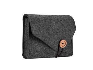 MacBook Power Adapter Case Storage Bag Felt Portable Electronics Accessories Organizer Pouch for MacBook Pro Air Laptop Power Supply Magic Mouse Charger Cable Hard Drive Power Bank Black