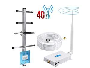 Cell Phone Signal Booster 4G LTE Band12 17 700Mhz US Cellular TMobile Cell Signal Booster Boost Data+Voice Mobile Signal Booster Cell Phone Signal Amplifier with Antenna Kit for Home