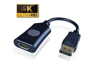 Active 4K DP Male to HDMI Female Converter Adapter Cable UHD Connect Any DisplayPort Enabled PC or Tablet to an HDMI Enabled Monitor TV or Projector 8 Inch