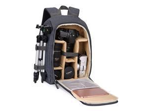 Camera Backpack PhotoCamera Bag Waterproof with Laptop CompartmentTripod Holder for DSLR SLR Cameras Khaki