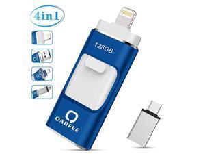 USB Flash Drive  Photo Stick 128GB External Storage Memory Stick Photostick Mobile Thumb Drive USB 30 Compatible iPhoneiPadPCType CAndroid Backup OTG Smart PhoneBlue