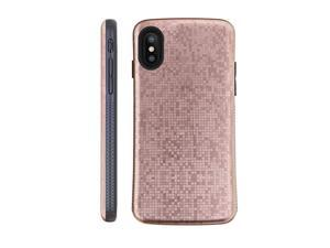 X Case | Xs Case | Premium Luxury Design | Military Grade 15ft Drop Tested | Wireless Charging | Compatible with Apple XXs Rose Gold Pixels