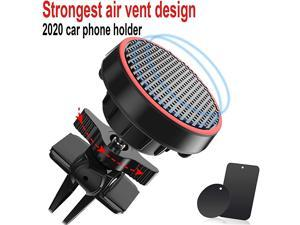 Magnetic Car Phone Mount Holder for Air Vent Builtin Amazing Strong Magnets  360° Rotate Universal Cell Phone Holder Car Cradles for iPhone Samsung Moto LG Nokia etc Black