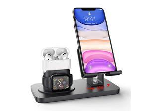 3 in 1 Charging Stand Compatible with iWatch Series 54321 AirPods Pro 21 and iPhone 11XRXXsMax88 Plus77 Plus6s6s Plus5SE Charger amp Cables Required Black