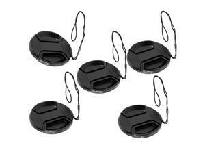 Packs Bundle) 77MM Front Lens Filter Snap On Pinch Cap, 77 mm Protector Cover for DSLR SLR Camera Lense