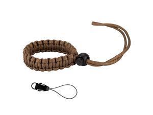 Camera Wrist Strap Paracord Bracelet Adjustable for DSLR Binocular Cell Phone (Brown)