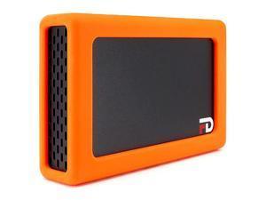 FD Duo Mobile 2 Bay RAID Aluminum Enclosure Silicone Orange Bumper AddOn DMR000ERO by