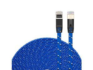 7 Ethernet Cable 30Ft7 Ethernet Ultra Flat Patch Cable for Modem Router LAN Network Built with Gold Plated Shielded RJ45 Connectors and Nylon Braided Jacket30Ft10M