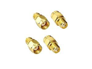 RF Coaxial Adapter SMA Female to RPSMA Male Adapter for Antennas Wireless LAN Devices Coaxial Cable