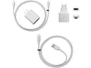 Official Pixel Charger for Pixel 3 and all Pixel Phones, Android Charger Cable Bundle with Fast Charging  18w Wall Charger - Charges any USB-C Phone (4 Items)