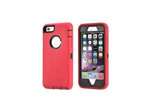 Case Compatible for iPhone 8 iPhone 7 Heavy Duty with Kickstand Builtin Screen Protector Tough 4 in1 Rugged Shorkproof Cover for Apple iPhone 7 iPhone 8 Red