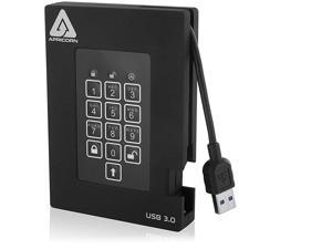 Aegis Padlock Fortress FIPS 1402 Level 2 Validated 256bit Encrypted USB 30 Hard Drive with PIN Access 1 TB