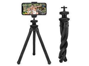 Phone Tripod,  Camera Tripod with Remote, 360° Rotating Phone Tripod Mount, Adjustable Flexible Tripod for Camera/Android Phone/Gopro/All Cell Phone