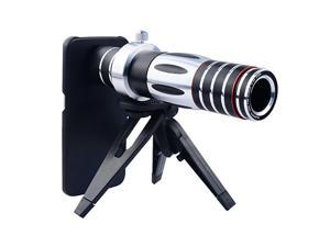 5X15X Optical Zoom Manual Focus Telephoto Telescope Camera Phone Lens with Tripod Holder Hard Cover Case for Samsung Galaxy S6 Edge