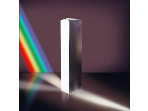 6quot Optical Glass Triangular Prism for Physics Teaching Light Spectrum Photography Rainbow Maker Suncatchers 150mm with Gift Box 150mm with Gift Box